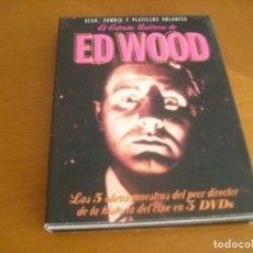 Cine: ED WOOD / EL EXTRAÑO UNIVERSO/ 5 PELICULAS EN 3 DVD SUPER DESCATALOGADA. Lote 156899770