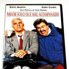 Cine: MEJOR SOLO QUE MAL ACOMPAÑADO - JOHN HUGHES STEVE MARTIN JOHN CANDY DVD DESCATALOGADA. Lote 263212790