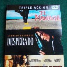 Cine: 3 PELICULAS EN UNA EL MARIACHI DESPERADO Y EL MEXICANO. Lote 156956098
