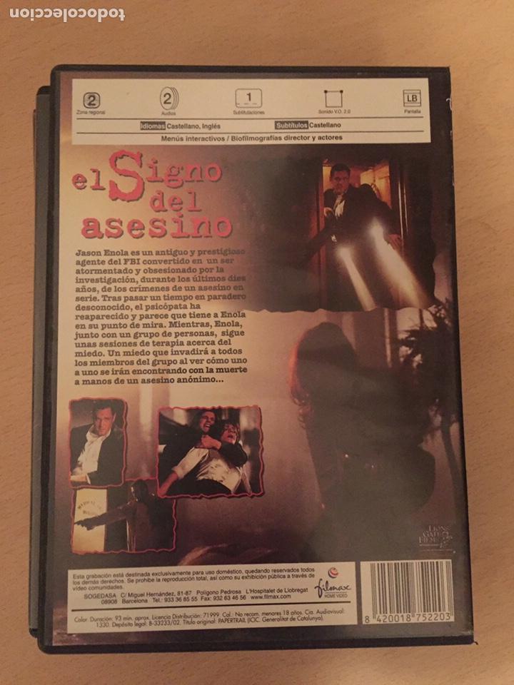 Cine: El Signo del Asesino DVD - Foto 2 - 157765828