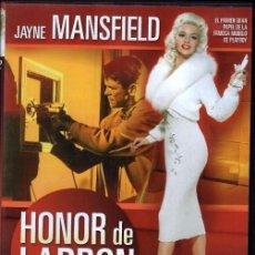 Cine: HONOR DE LADRON DVD (JAYNE MANSFIELD) ...LA GUAPA RUBIA COLABORA EN UN JUGOSO ROBO. Lote 157882450