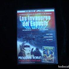 Cine: LOS INVASORES DEL ESPACIO + SUPERMAN CONTRA LA BANDA NEGRA - DVD COMO NUEVO. Lote 244690015