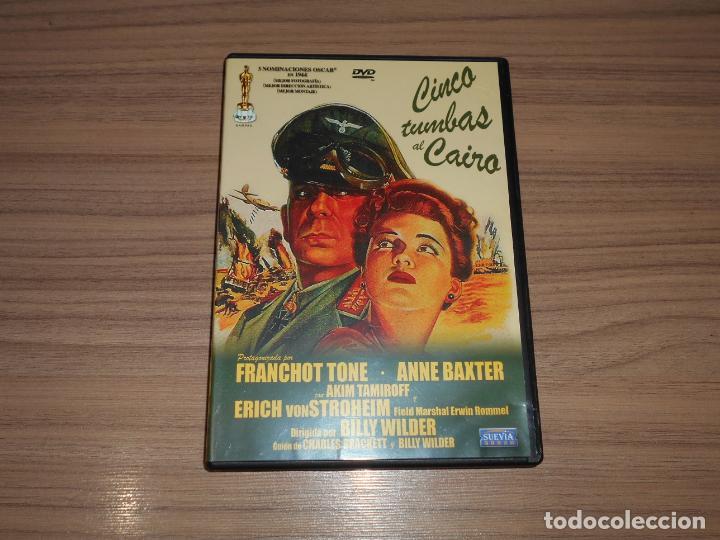 CINCO TUMBAS AL CAIRO DVD ANNE BAXTER COMO NUEVA (Cine - Películas - DVD)