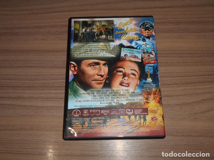 Cine: CINCO TUMBAS al CAIRO DVD Anne Baxter COMO NUEVA - Foto 2 - 183776808