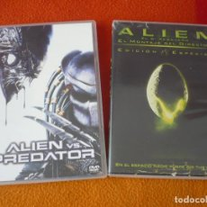 Cine: ALIEN VS PREDATOR + ALIEN EL 8º PASAJERO MONTAJE DEL DIRECTOR DVD TERROR . Lote 158556214