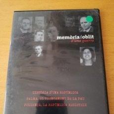 Cine: MEMÒRIA I OBLIT D'UNA GUERRA Nº 1: HISTÒRIA D'UNA REPÚBLICA / PALMA / POLLENÇA (DVD). Lote 158829694