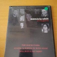 Cine: MEMÒRIA I OBLIT D'UNA GUERRA Nº 2: VINT DIES DE GUERRA / ALGAIDA / INCA (DVD). Lote 158830074