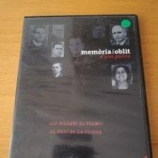 Cine: MEMÒRIA I OBLIT D'UNA GUERRA Nº 8: ELS SOLDATS DE FRANCO / EL PREU DE LA GUERRA (DVD). Lote 158830574