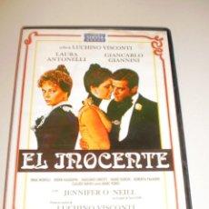 Cine: DVD EL INOCENTE. DE LUCHINO VISCONTI. CON LAURA ANTONELLI. 120 MINUTOS (EN BUEN ESTADO). Lote 158847842