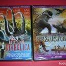 Cine: DVD MAESTROS DE LA ANIMACION UNA INVENCION DIABOLICA + VIAJE A LA PREHISTORIA PRECINTADOS . Lote 159470742