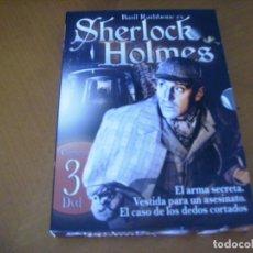 Cine: SHERLOCK HOLMES / PACK 3 DISCOS / BASIL RATHBONE / DVD PRECINTADO. Lote 159513030