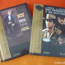 Cine: DOS HOMBRES Y UN DESTINO ( PAUL NEWMAN REDFORD ) + REBELDE SIN CAUSA ( JAMES DEAN ) LIBRO DVD . Lote 159530534