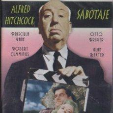 Cine: SABOTAJE. ALFRED HITCHCOCK. GRAN SELECCIÓN. DVD-5583. Lote 159535846