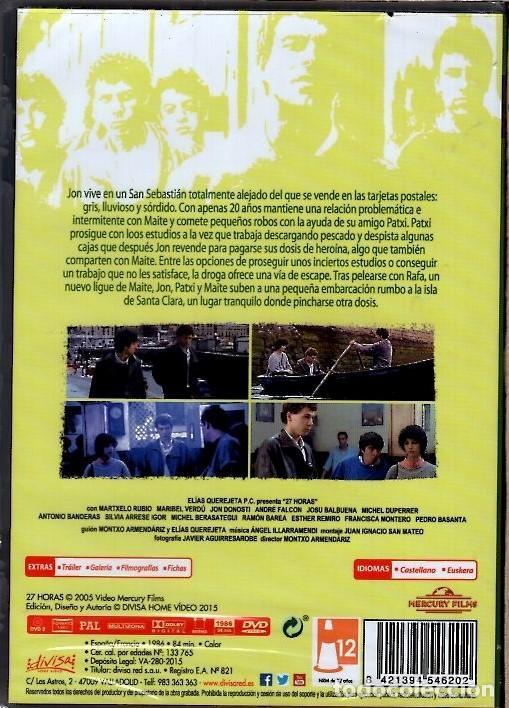 Cine: 27 HORAS DVD (MONTXO ARMENDARIZ)..LOS HIJOS DEL PUEBLO VAN CAYENDO EN LOS ROBOS Y LA DROGA - Foto 2 - 159746306