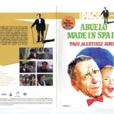 Cine: ABUELO MADE IN SPAIN, CON PACO MARTÍNEZ SORIA. DVD.. Lote 244898955