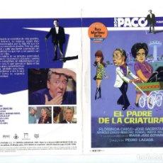 Cine: EL PADRE DE LA CRIATURA , CON PACO MARTÍNEZ SORIA. DVD.. Lote 159774846