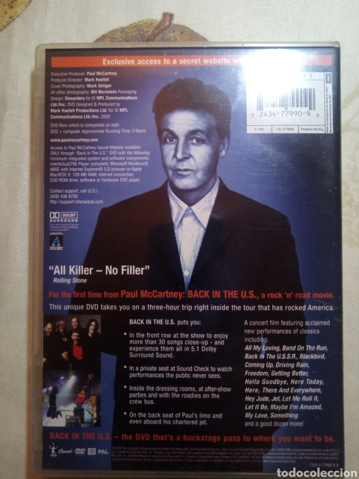 Cine: Back in the US. Paul McCartney. Concert Film. DVD - Foto 2 - 159799889