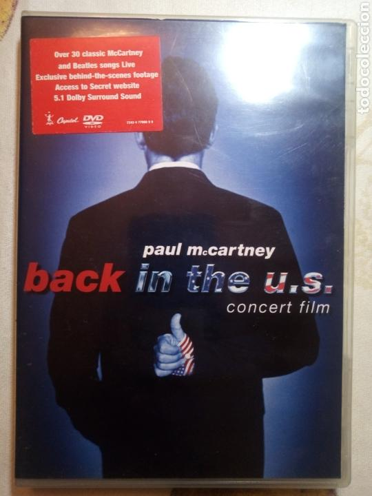 BACK IN THE US. PAUL MCCARTNEY. CONCERT FILM. DVD (Cine - Películas - DVD)
