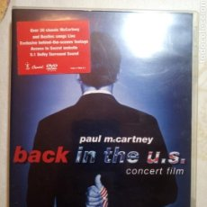 Cine: BACK IN THE US. PAUL MCCARTNEY. CONCERT FILM. DVD. Lote 159799889