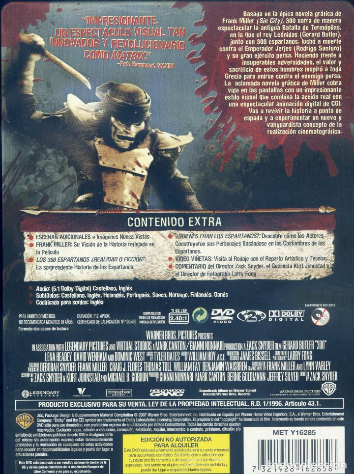 Cine: 300 (2006) EDICION ESPECIAL COLECCIONISTA 2 DISCOS - Foto 2 - 160258326