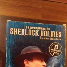 Cine: DVD SHERLOCK HOLMES LOTE PACK CON 13 CAPITULOS 7 DVDS. Lote 35316768