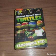 Cine: TEENAGE MUTANT NINJA TURTLES TORTUGAS NINJA TEMPORADA 3 COMPLETA 4 DVD 568 MIN. NUEVA PRECINTADA. Lote 194349761