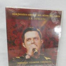 Cine: ALEJANDRO SANZ. EL ALMA AL AIRE. EN DIRECTO. 28 DE JUNIO 2001. MUSICA. NUEVO SIN DESPRECINTAR. Lote 160685602