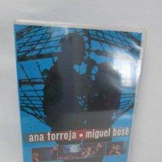 Cine: ANA TORROJA. MIGUEL BOSE. GIRADOS EN CONCIERTO. WARNER MUSIC VISION. 2001. DVD MUSICA. NUEVO S. Lote 160686602