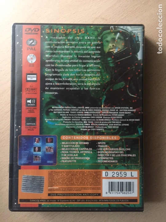 Cine: Wing Commander DVD - Foto 2 - 160803512