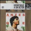 Cine: ANTES QUE ANOCHEZCA. HOMENAJE A UN ACTOR Nº 1. DVD-5725. Lote 161154074