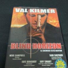 Cine: ( V11 ) BLIND HORIZON - VAL KILMER ( DVD PROCEDENTE VIDEOCLUB ). Lote 161752908