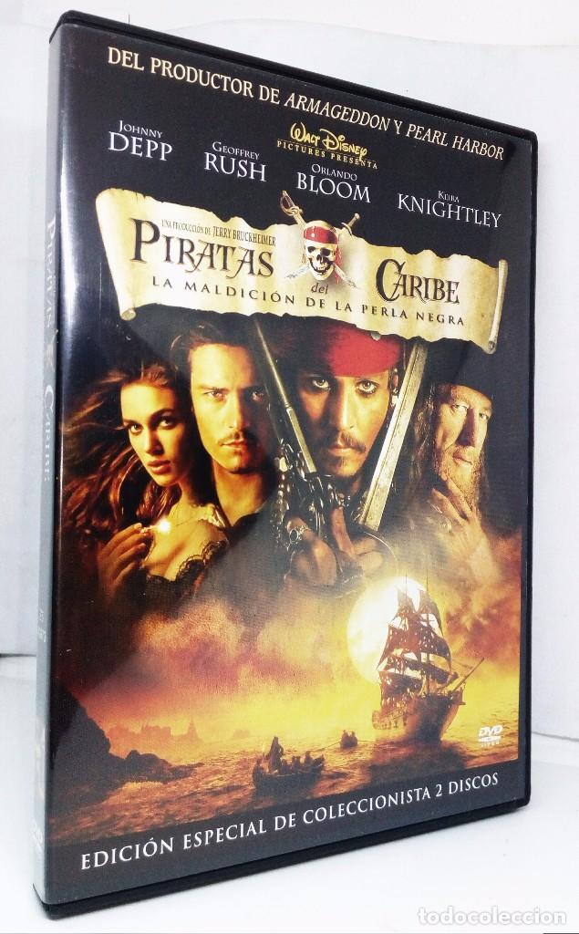 PIRATAS DEL CARIBE LA MALDICIÓN DE LA PERLA NEGRA *** EDICIÓN ESPECIAL DE COLECCIONISTA 2 DISCOS (Cine - Películas - DVD)
