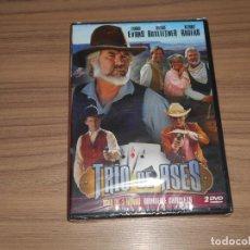 Cine: TRIO DE ASES MINI SERIE COMPLETA 2 DVD 195 MIN. LINDA EVANS KENNY ROGERS NUEVA PRECINTADA. Lote 175121217