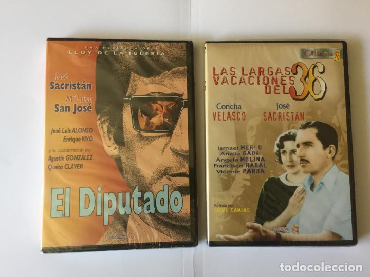 2 DVD'S: JOSÉ SACRISTÁN (EL DIPUTADO-LARGAS VACACIONES DEL 36) DIVISA. ORIGINALES. (Cine - Películas - DVD)