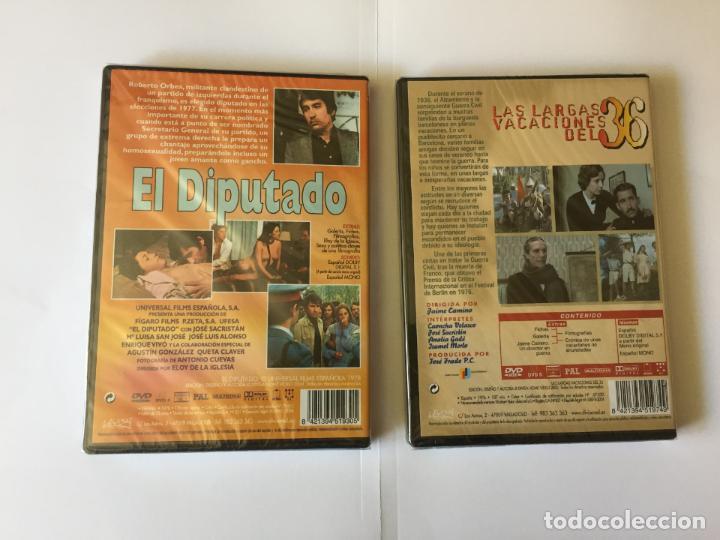 Cine: 2 DVD's: JOSÉ SACRISTÁN (El diputado-Largas vacaciones del 36) DIVISA. Originales. - Foto 2 - 162424226