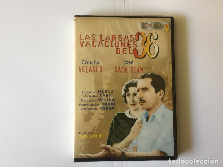 Cine: 2 DVD's: JOSÉ SACRISTÁN (El diputado-Largas vacaciones del 36) DIVISA. Originales. - Foto 3 - 162424226
