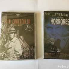 Cine: 2 DVD'S: LA TIENDA DE LOS HORRORES - SIN CONCIENCIA (SUEVIA- OK RECORDS) NUEVOS. ORIGINALES.. Lote 162425938