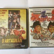 Cine: 2 DVD'S: WATERLOO Y GOLPE SECRETO DE D'ARTAGNAN (MIRAMAR - RSR) NUEVOS. ORIGINALES.. Lote 162448838