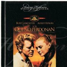 Cine: LOS QUE NO PERDONAN BURT LANCASTER & AUDREY HEPBURN (LIBRO DVD). Lote 162499118