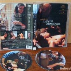 Cine: LA BELLA MENTIROSA - MICHEL PICCOLI-JANE BIRKIN- DE JACQUES RIVETTE - DOBLE DVD VERSION INTEGRA. Lote 162500126
