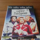 Cine: DVD CARTA A TRES ESPOSAS. Lote 162703749