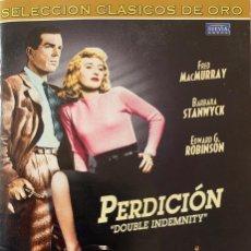 Cine: PERDICION, LA OBRA MAESTRA DEBILLY WILDER EN 2 VERSIONES-CAJA METALICA-LIBRETO 32 PÁGINAS. Lote 162786602