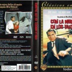 Cine: CON LA MUERTE EN LOS TALONES. - DVD. ALFRED HITCHCOCK. REINO UNIDO. 1959. INTRIGA.. Lote 162920821