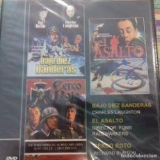 Cine: BAJO DIEZ BANDERAS EL ASALTO CERCO ROTO 3X1. Lote 163040454
