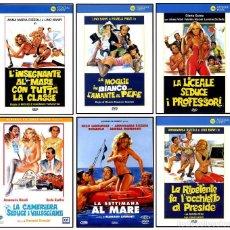 Cine: DVD COMEDIAS ITALIANAS. GLORIA GUIDA, ANNAMARIA RIZZOLI, PAMELA PRATI, ALVARO VITALI, LINO BANFI. Lote 163403998