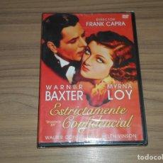 Cine: ESTRICTAMENTE CONFIDENCIAL DVD DE FRANK CAPRA MYRNA LOY NUEVA PRECINTADA. Lote 222644283