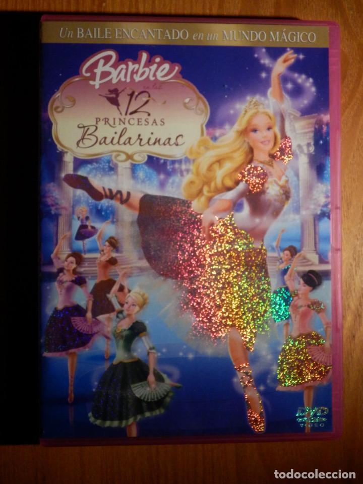 Dvd Infantil Dibujos Animados Barbie 12 Princesas Bailarinas