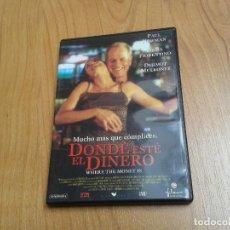 Cine: DONDE ESTÉ EL DINERO -- MAREK KANIEVSKA -- PAUL NEWMAN, LINDA FIORENTINO, DERMOT MULRONEY -- DVD. Lote 165034734