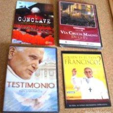 Cine: 4 DVD DEJUAN.PABLO.II, FRANCISCO, CONCLAVE, VIA CRUCIS MAGNO DE LA FE, TODOS SIN USO-VER GASTOS. Lote 165203490