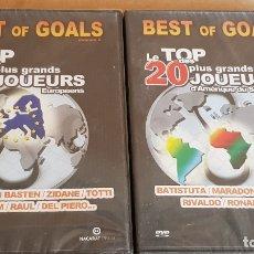 Cine: BEST OF GOALS / VOLS. 2 Y 3 / LE TOP DES 20 PLUS GRANDS JOUEURS EUROPÉENS, AMÉRIQUE ET AFRIQUE.. Lote 165418854